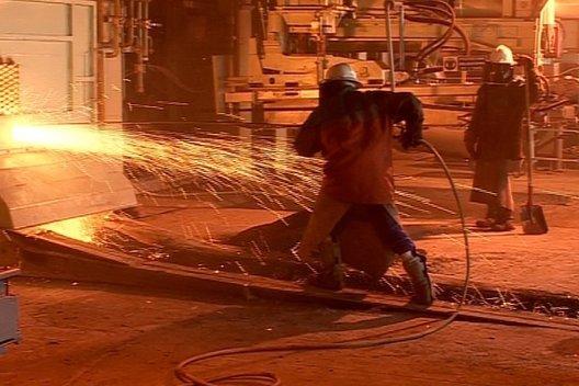 Coulée métal (photo extraite du documentaire)