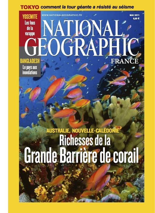 8 pages sur le lagon calédonien dans National Geographic France