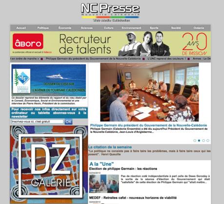 Nouveau look du site NCPresse