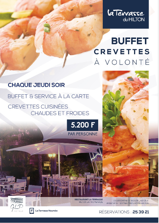 Restaurant La terrasse du Hilton 2015, 2016