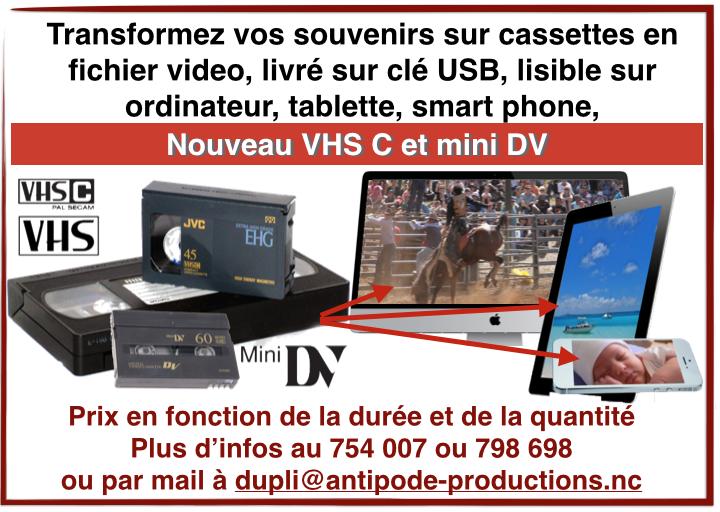 Nouveau service : vos cassettes VHS, VHS-C et mini DV en fichiers lisibles sur ordinateur