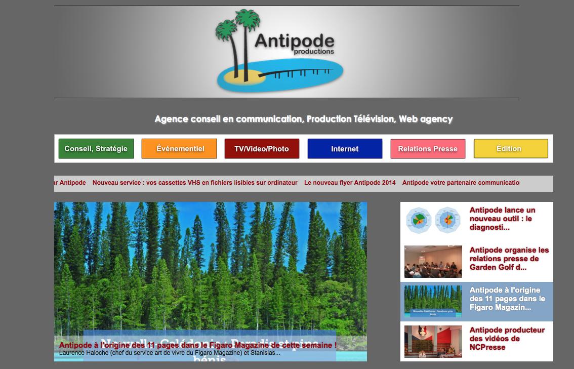 Découvrez le nouveau site Antipode Productions