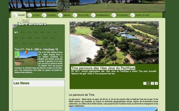 Antipode réalise et lance le site du Golf de Tina